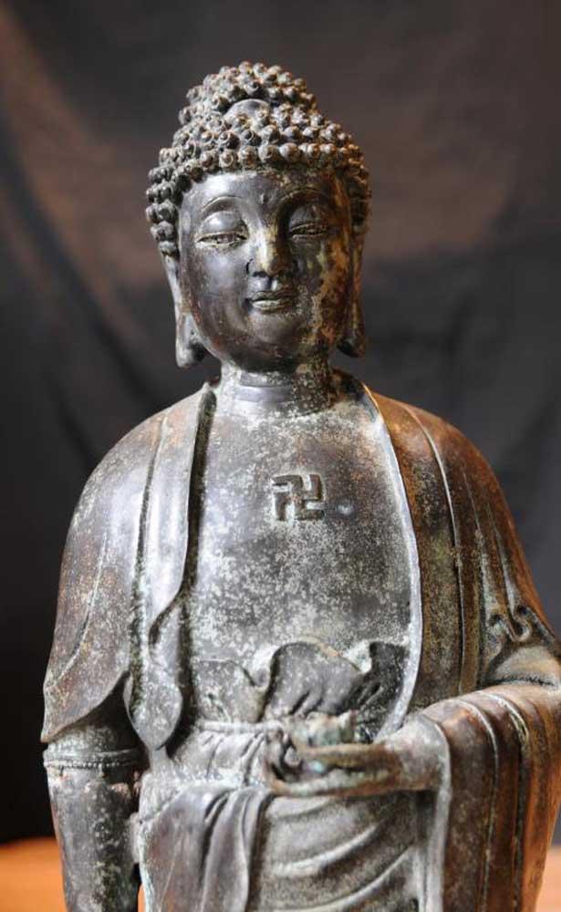 Bronze Buddha Statue Indian Buddhism Buddhist Religious