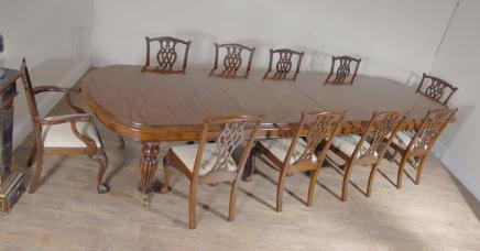 Engels Mahonie Victoriaanse Dining Table & Set Chippendale