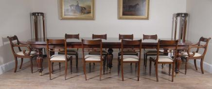 Regency Pedestal Dining Table & Stoelen