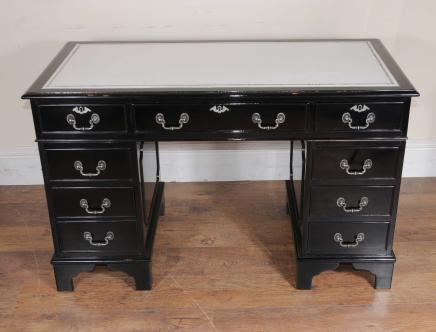 Art Deco Pedestal Desk Knee Loch