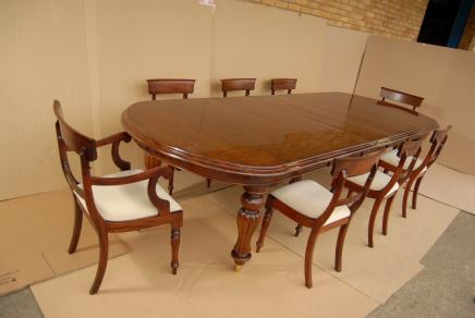 Victorian Dining Table Set William IV Stühle