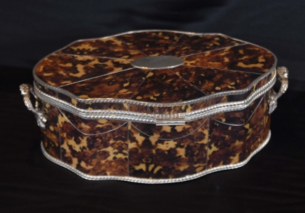 Silverplate & Tortoiseshell BOX JÓIAS SERPENTINA