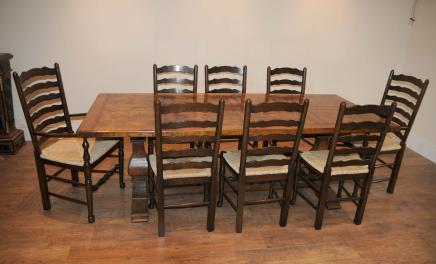 Ladderback Cadeira Refeitório Table Set de jantar Cozinha