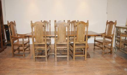 William Mary Chair Bauernhaus Refektorium Tisch und Stuhl Set