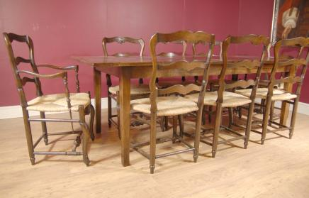 Oak Ladderback Chair & kloostertafel Set Dining