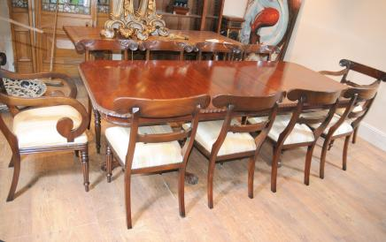 10 William IV Stühle Chippendale Antique Dining Set
