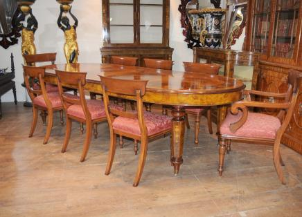 Tabela de jantar vitoriana William IV Cadeiras Set