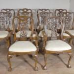 Walnut Inglês George II Cadeiras de jantar