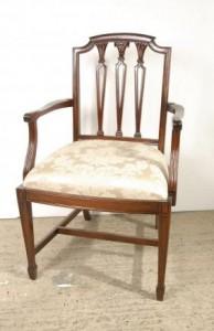 Hepplewhite Английские стулья красного дерева Обеденный