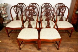 10 Mahogany Dining Chairs Hepplewhite