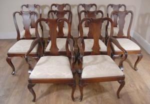 Mahogany englischen Königin Anne Dining Chairs