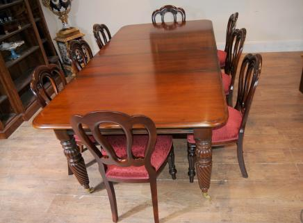 Victorian Balloon Back Chair Table Dining Suite