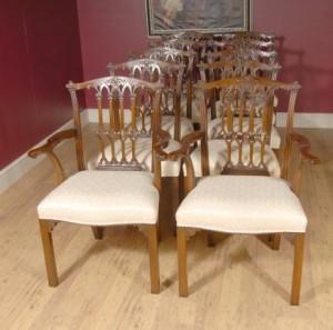英国桃花心木维多利亚餐椅