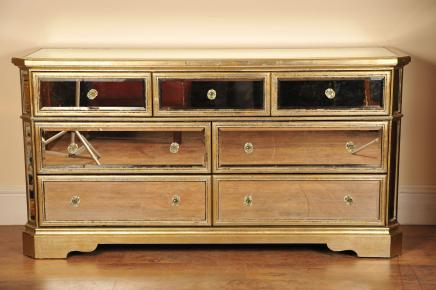 Speilvendt Chest Skjenk Buffet Server Art Deco