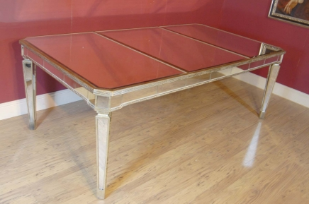 Art Deco Mirrored Eettafel Desk