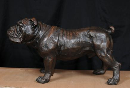 Bronze English Bulldog Statue Bull Dog Casting