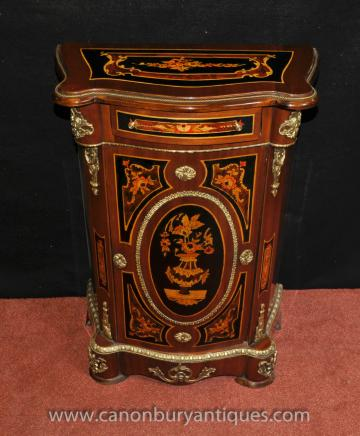 French Louis XV Cabinet Chest Credenza Marquetry Inlay