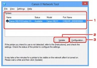 Canon IJ Network tool for Mac OS X