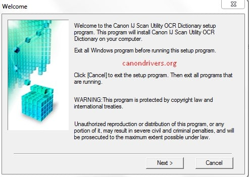 IJ Scan Utility OCR Dictionary