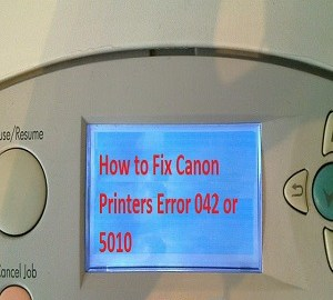 Canon Printers Error 042 or 5010