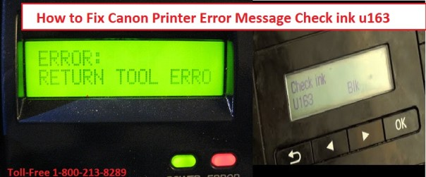 Canon Printer Error U163