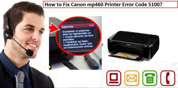 Canon mp460 Printer Error Code 5100