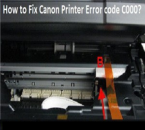 How to Fix Canon Printer Error Code c000