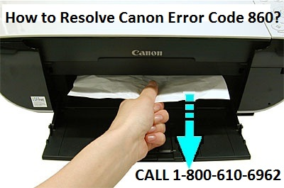 Resolve Canon Error Code 860