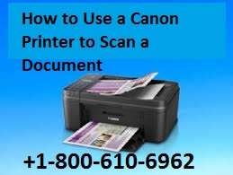 Canon Printer to Scan a Document