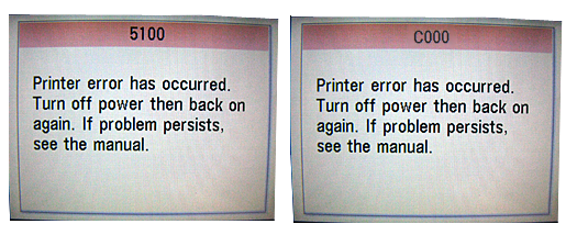 Canon Printer Error Code 5110