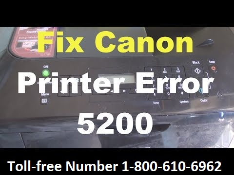 Fix Canon Printer Error Code 5200