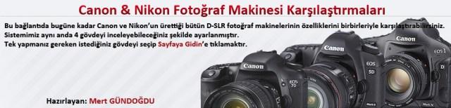 fotoğraf makinesi karşılaştırmaları