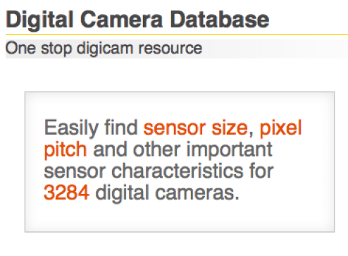 New Camera Databases