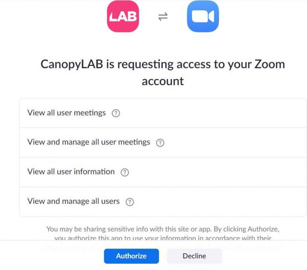 Zoom Access