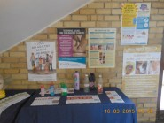A CANSA exhibition at the Grabouw High School that shared information about being Smart in the Sun as well as the dangers of smoking and hookah pipe smoking.