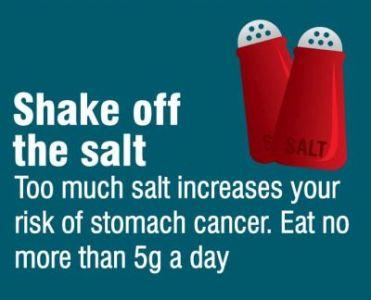 Reduce salt intake
