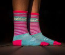 ILoveBoobies Socks Pink Blue