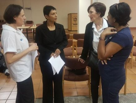 Lisa Strydom CANSA, Poonitha Naidoo MERAN, Joan Deare Black Sash & Amnesty International & TLC and Aggie Govender CHOC