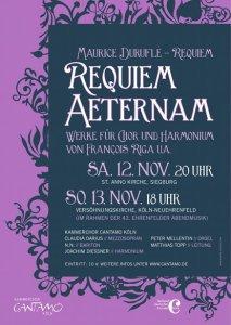 """Plakat """"Requiem Aeternam"""""""