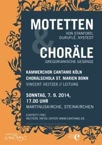 """Plakat """"Motetten & Choräle"""""""