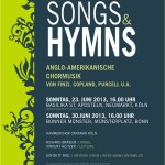 "Plakat ""Songs & Hymns"""