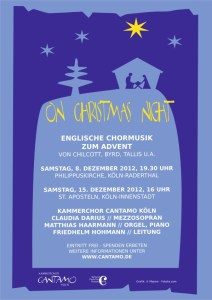 "Plakat ""On christmas night"""