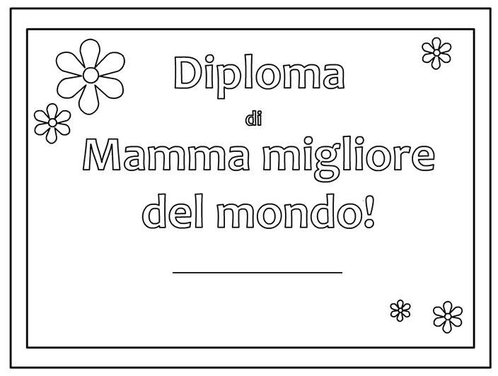 diploma festa mamma