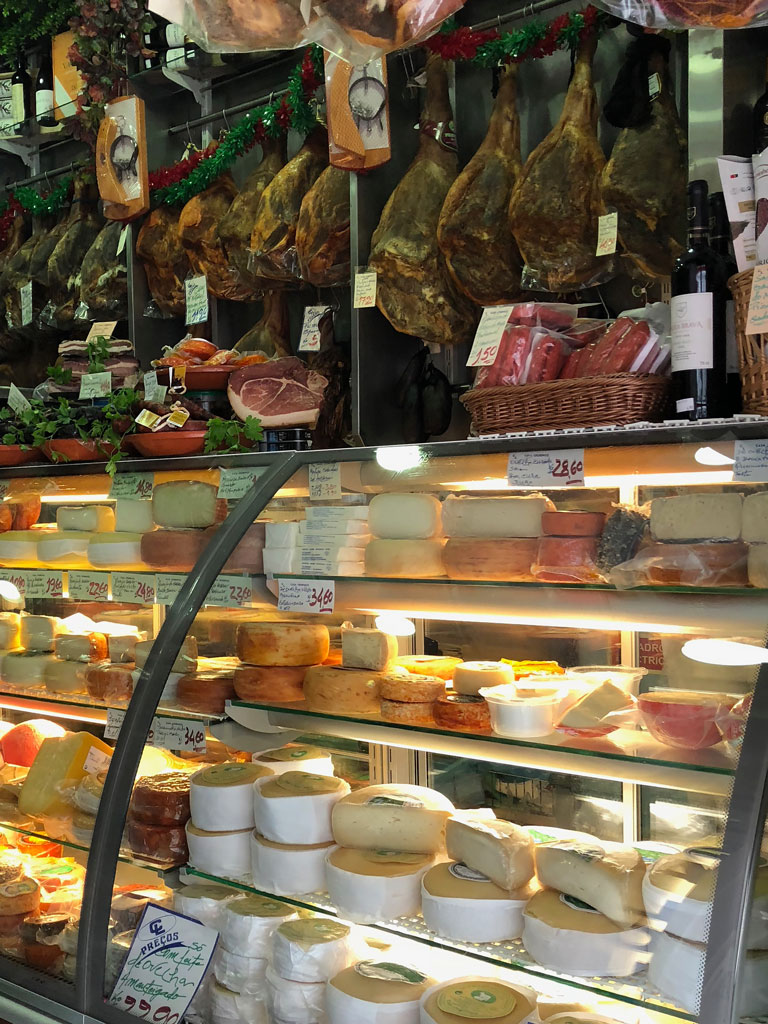 Cured meats and cheese in Porto
