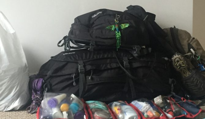 Travel long term first packing attempt