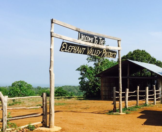Welcome sign at Elephant Valley Project in Mondulkiri, Cambodia
