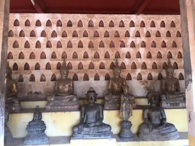 Wat Si Saket in Vientiane, Laos. Thousands of Buddhas