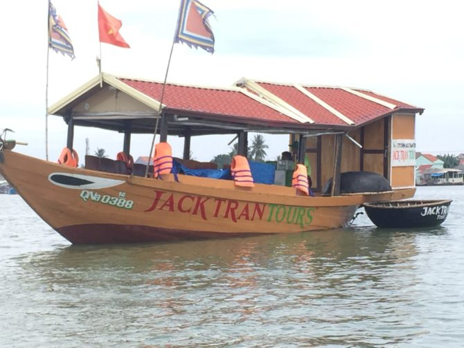 The Jack Tran Tours Boat in Hoi An, Vietnam