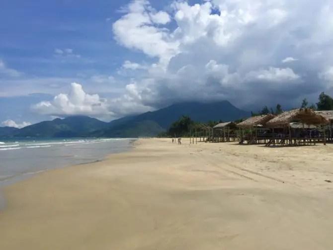 Lang Co Bay on the Hai Van Pass in Vietnam