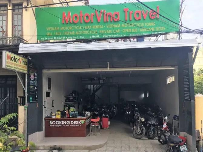 MotorVina Travel in Hue, Vietnam